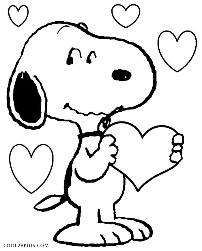 Snoopy Coloring Pages - Printable Snoopy Coloring Pages for Kids