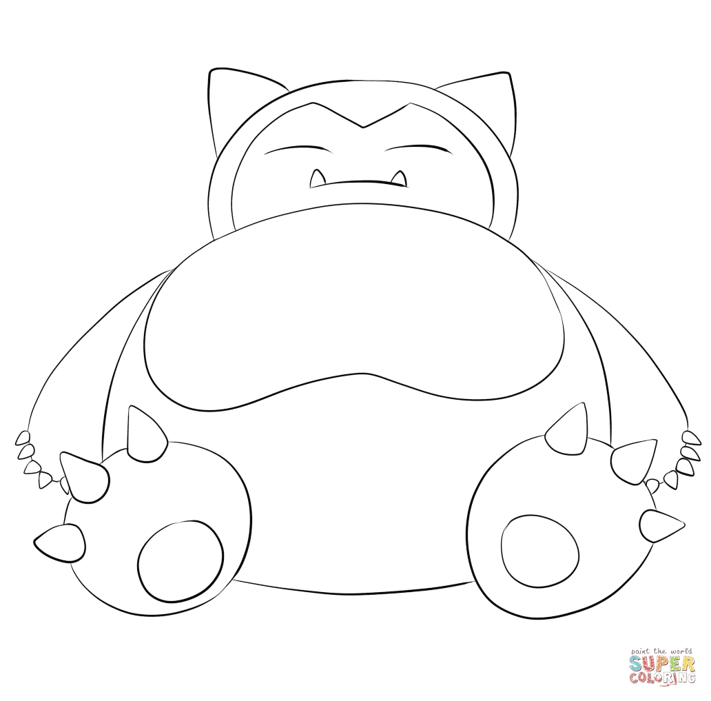 snorlax coloring pages - snorlax