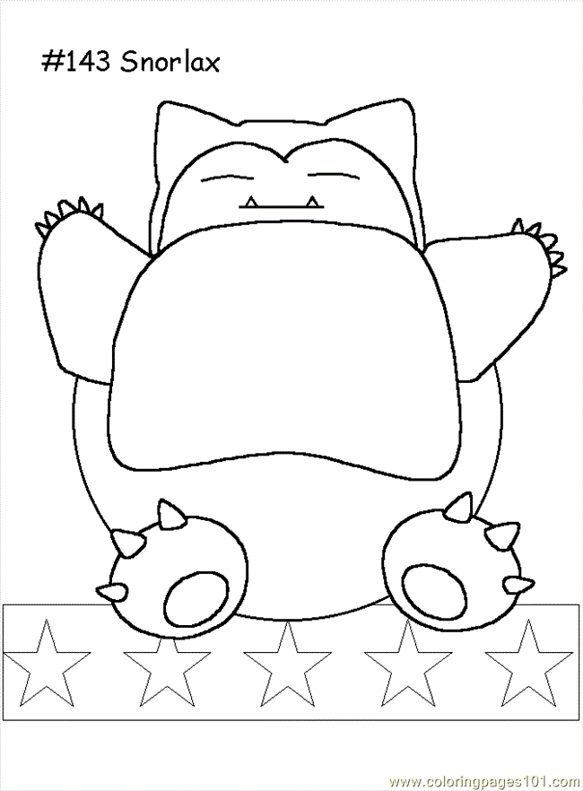 Pokemon Kleurplaten Snorlax.20 Snorlax Coloring Pages Collections Free Coloring Pages