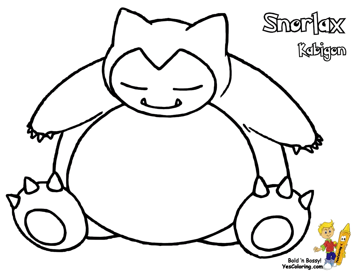 20 Snorlax Coloring Pages Collections   FREE COLORING PAGES
