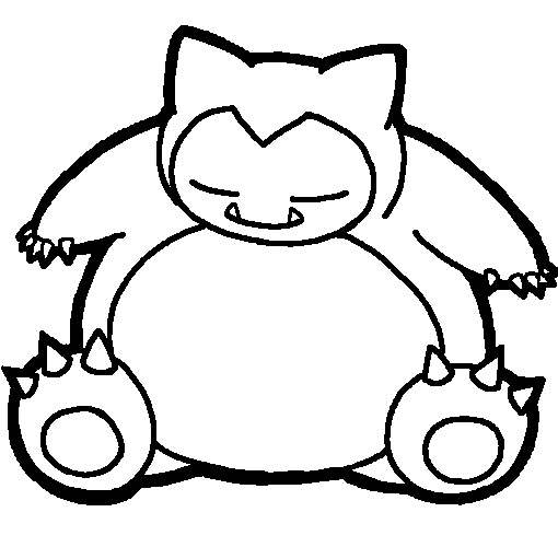 snorlax coloring pages - snorlax pokemon coloring pages sketch templates