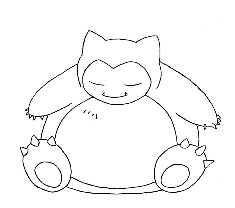 Snorlax Coloring Pages - Snorlax Pokemon Coloring Pages Coloring Pages