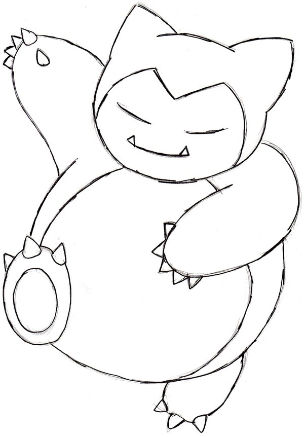 snorlax coloring pages - snorlax pokemon coloring pages images