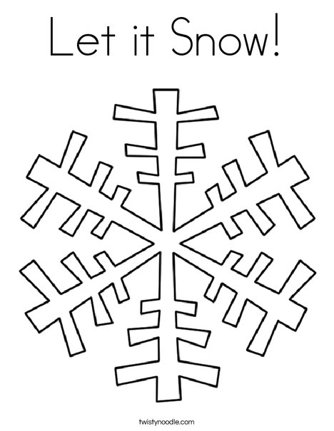 snow coloring pages - let it snow 40 coloring page