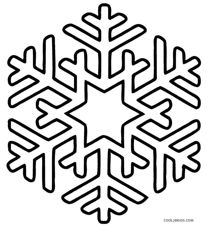 snow coloring pages - snowflake coloring pages