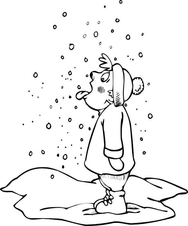 snow coloring pages - winter coloring pages
