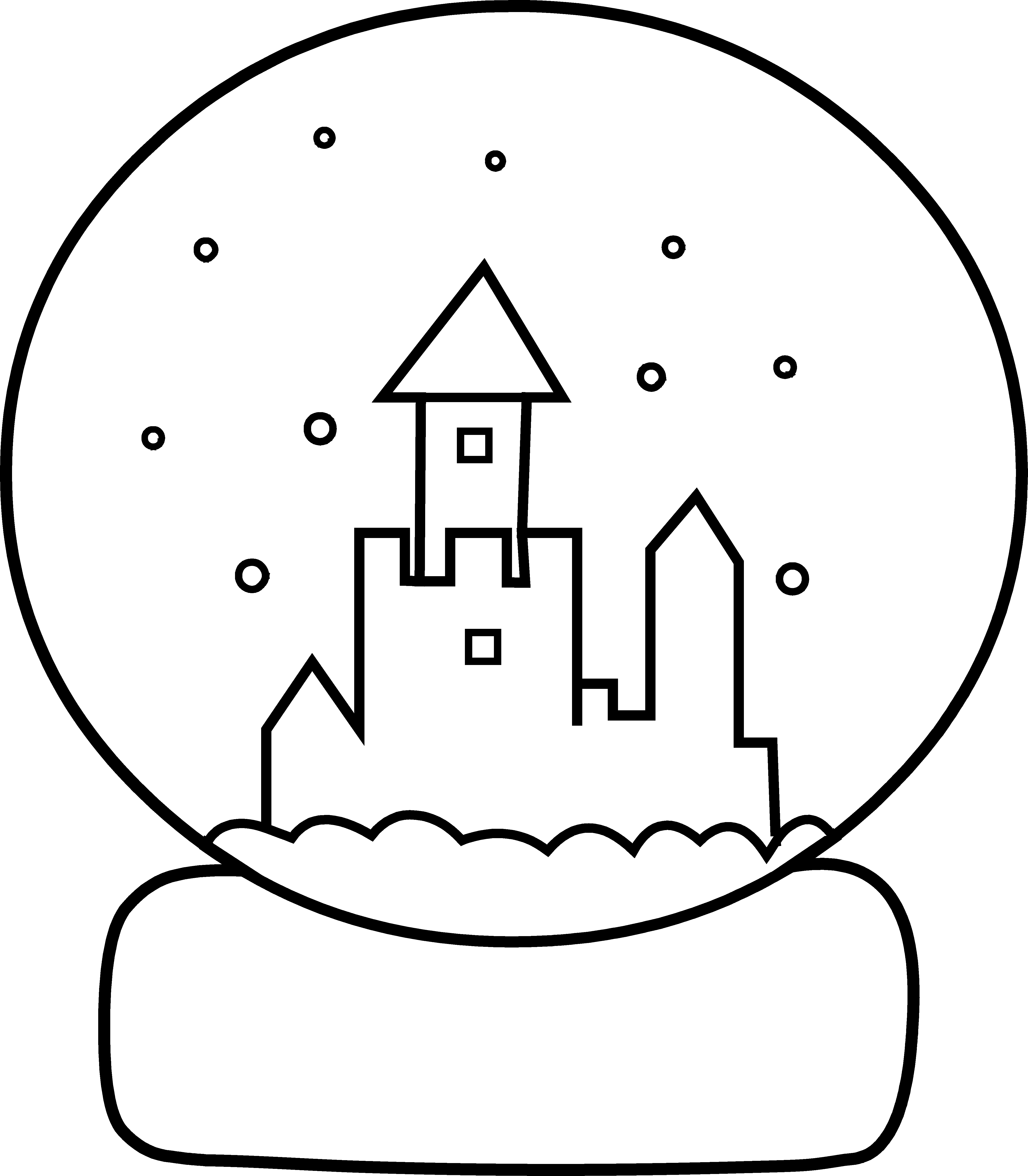 snow globe coloring page - globe line art