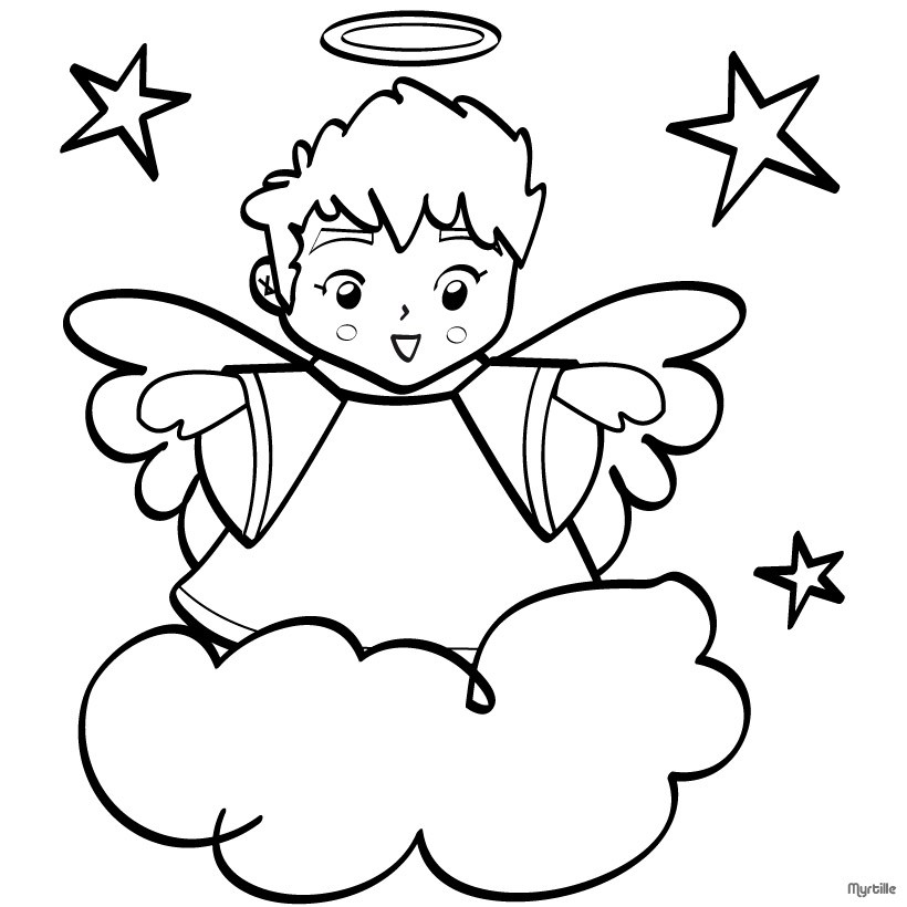 snow white coloring pages - printable christmas angels