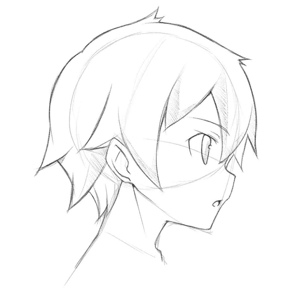 snowflake coloring page - anime face side view tutorial c mangaacademy