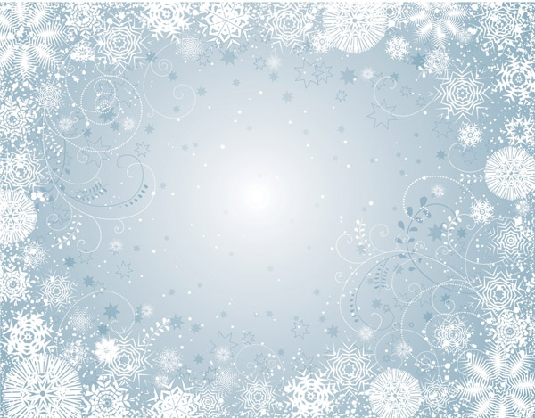 snowflake coloring page - free winter background pictures