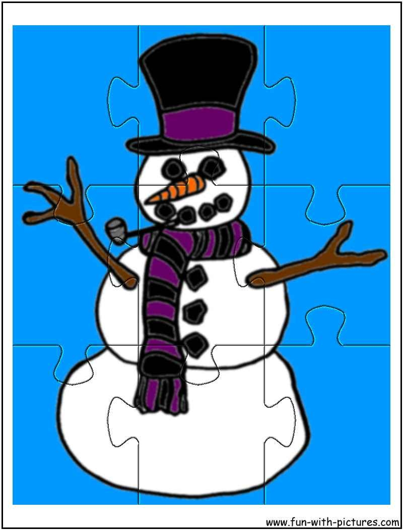 snowman coloring pages printable - printable snowman2 jigsaw