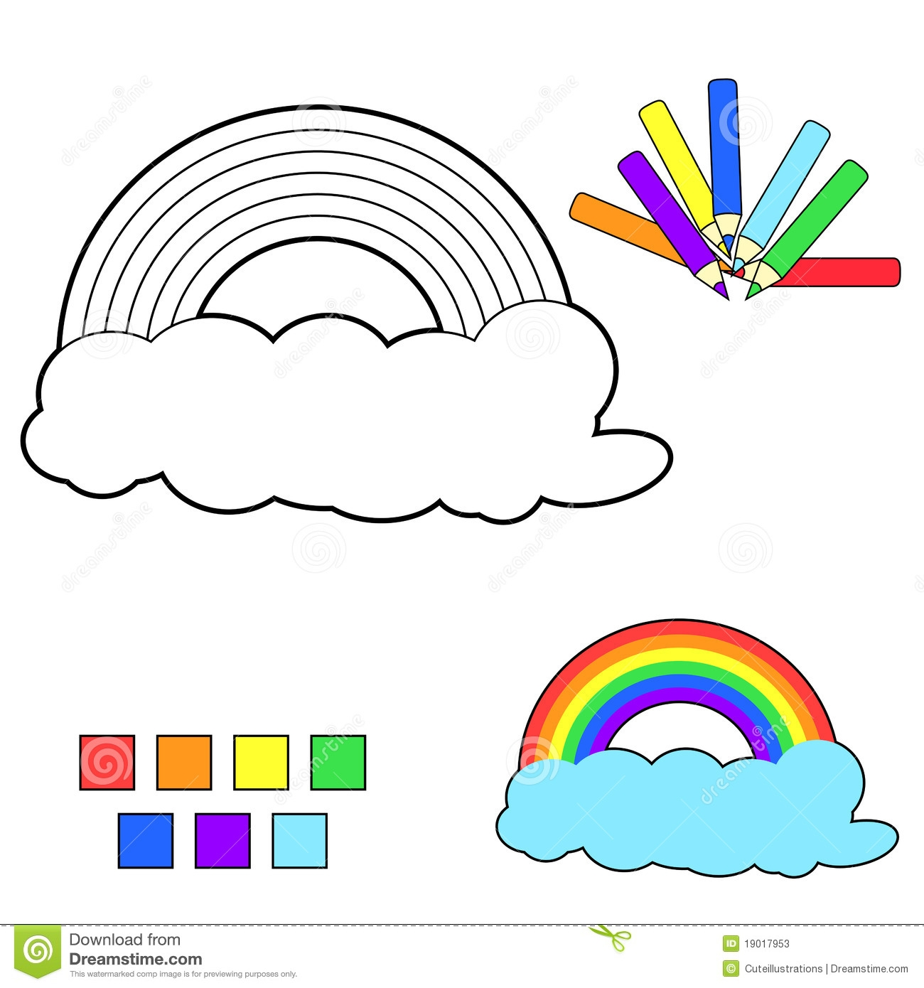 snowman coloring pages - stock photos coloring book sketch rainbow image