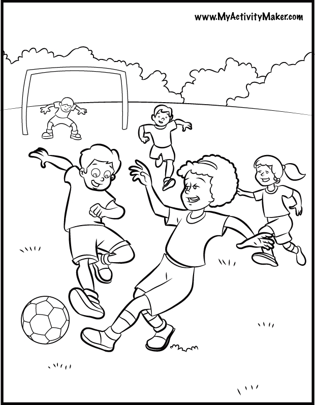 soccer ball coloring page - 4811