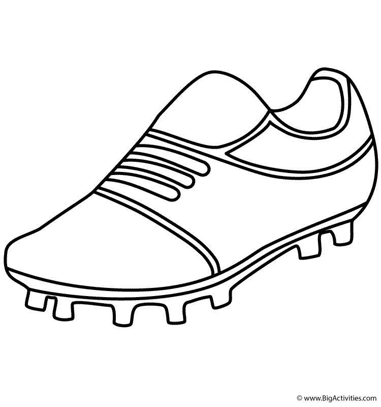 soccer ball coloring page - soccer shoe