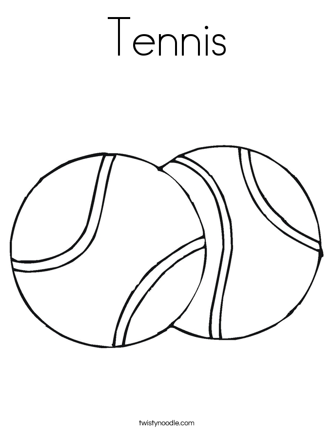 soccer ball coloring page - tennis coloring page