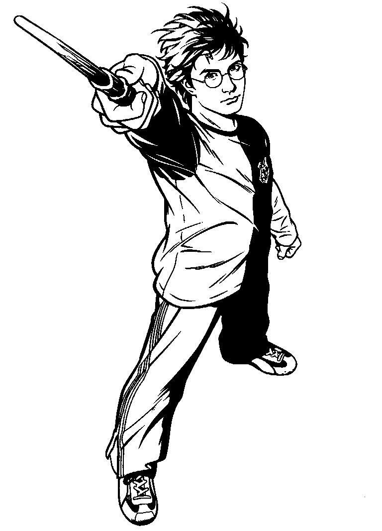 soccer coloring pages - harry potter coloring pages 5