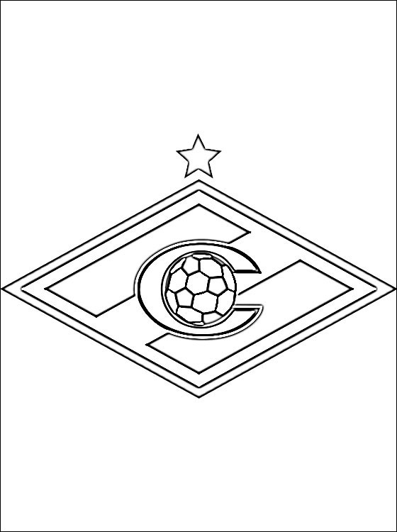 soccer coloring pages - logo of fc spartak moscow