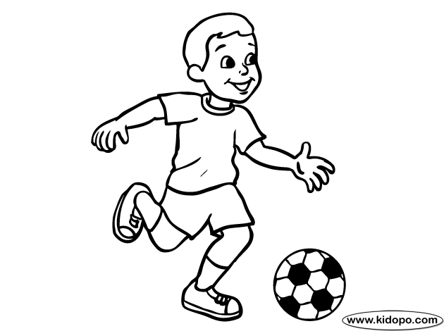 soccer player coloring pages - boy soccer player 09