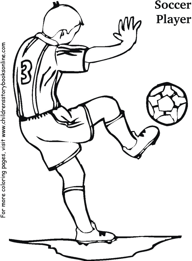 soccer player coloring pages - soccer3 pf