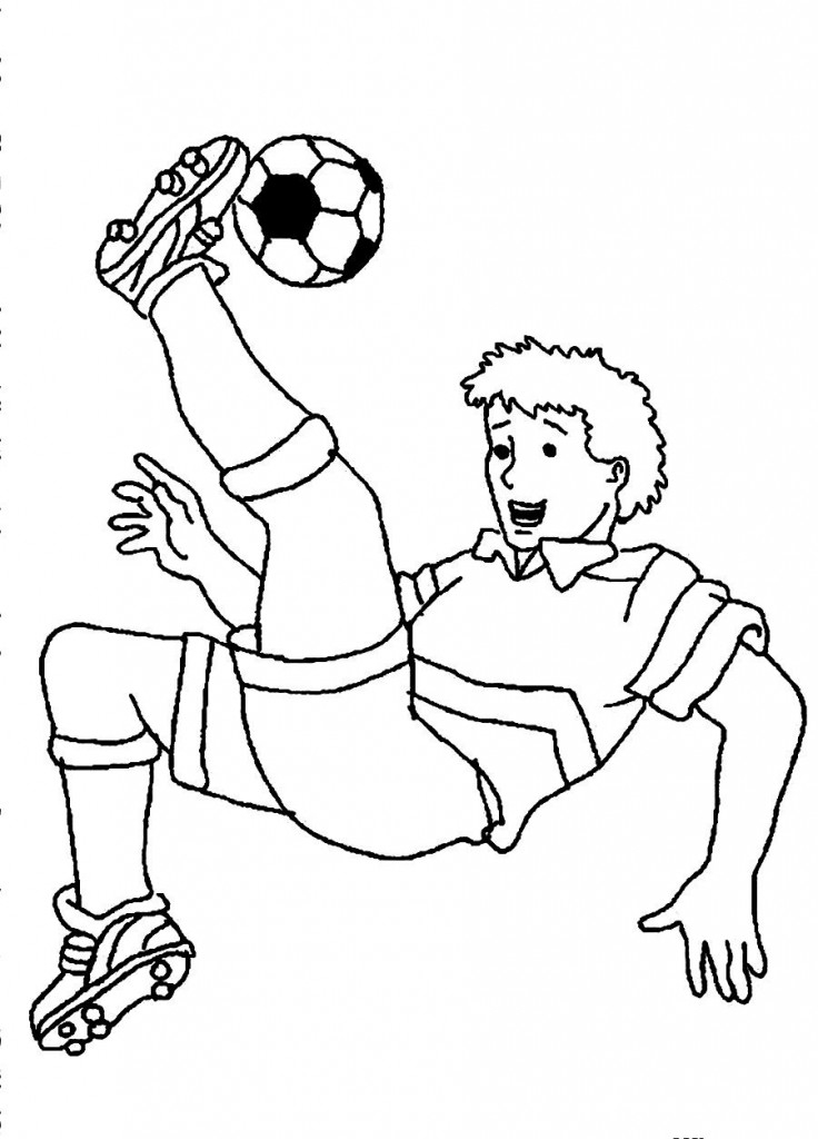 soccer player coloring pages - soccer coloring pages