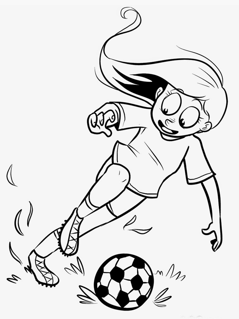 soccer player coloring pages - printable soccer player coloring pages