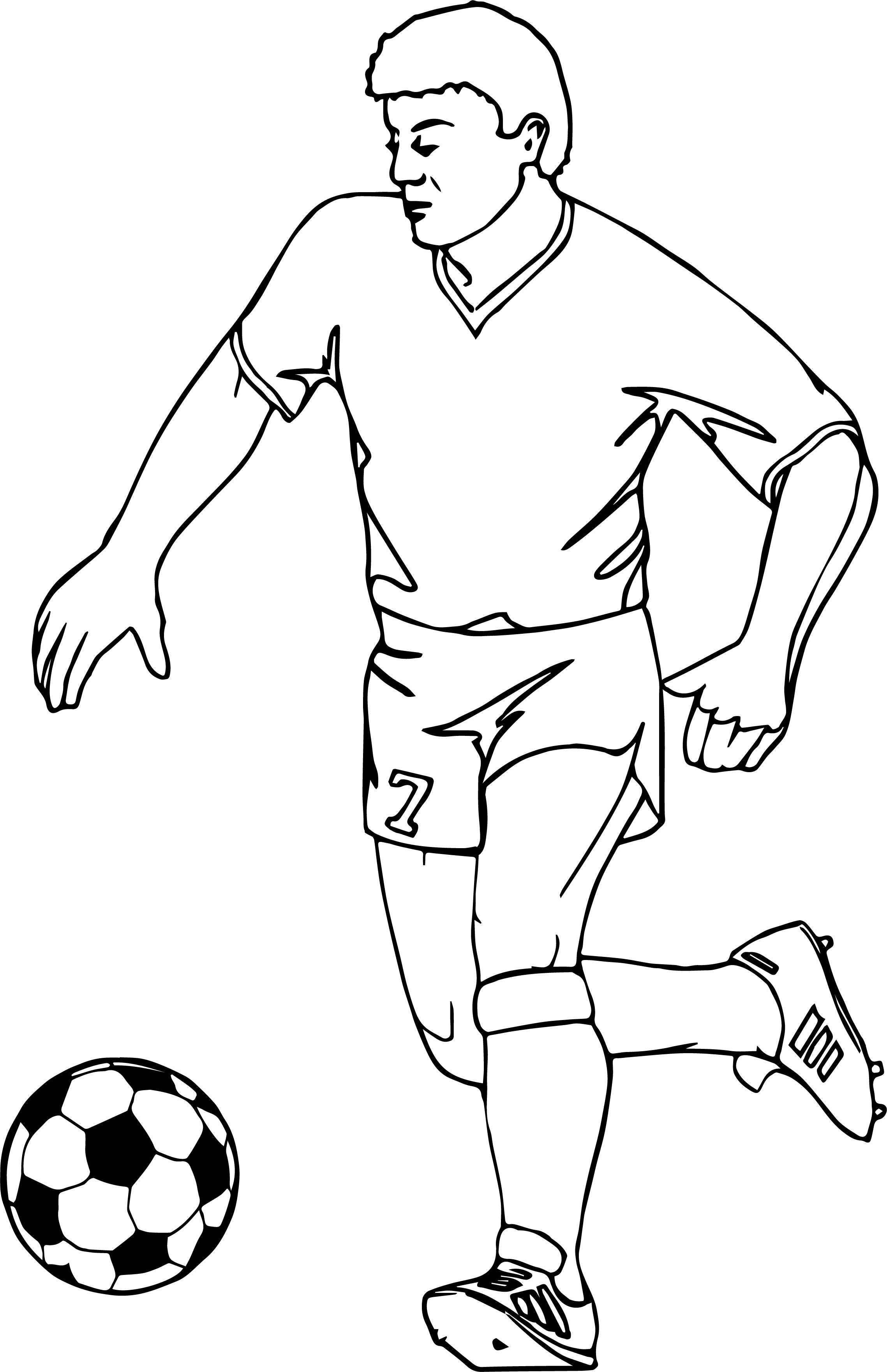 soccer player coloring pages - running football player playing soccer coloring page
