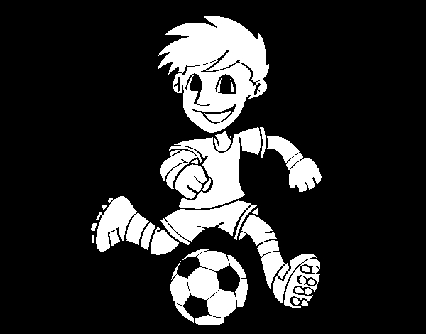 soccer player coloring pages - soccer player with ball
