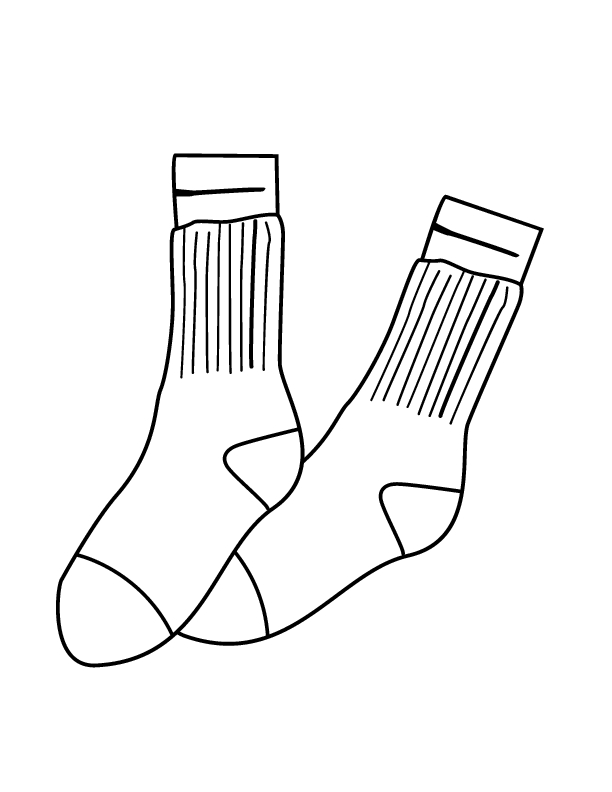 socks coloring page - q=shoes with socks