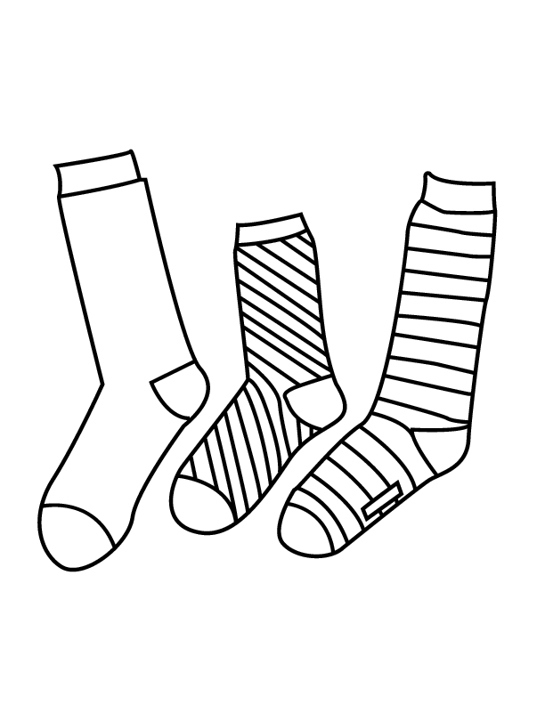 socks coloring page - pair of socks coloring page sketch templates