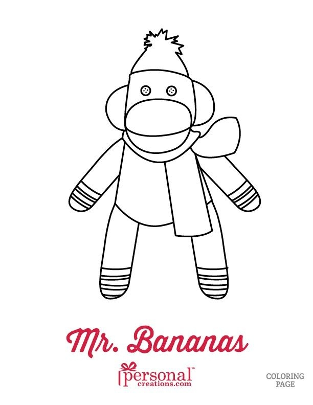 Socks Coloring Page - sock Monkey Coloring Pages Coloring Home