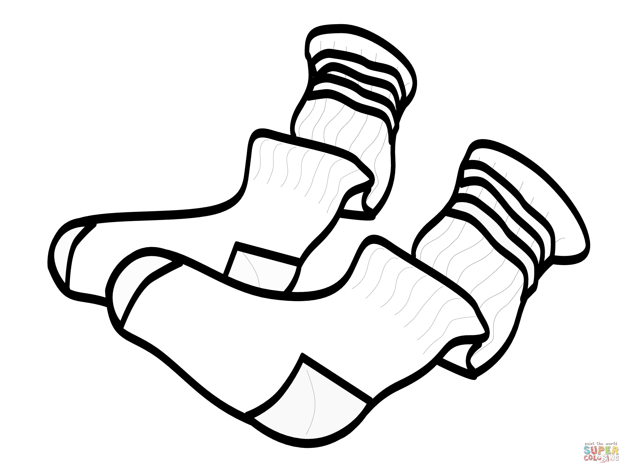 socks coloring page - socks
