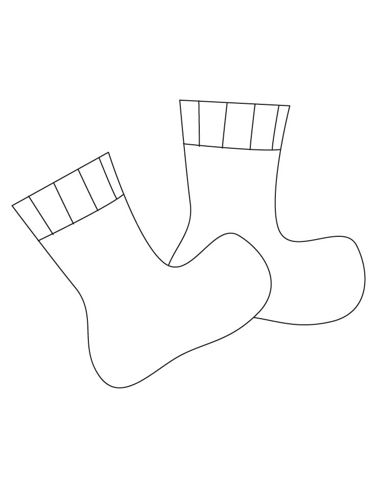 socks coloring page - socks coloring pages 1d3699