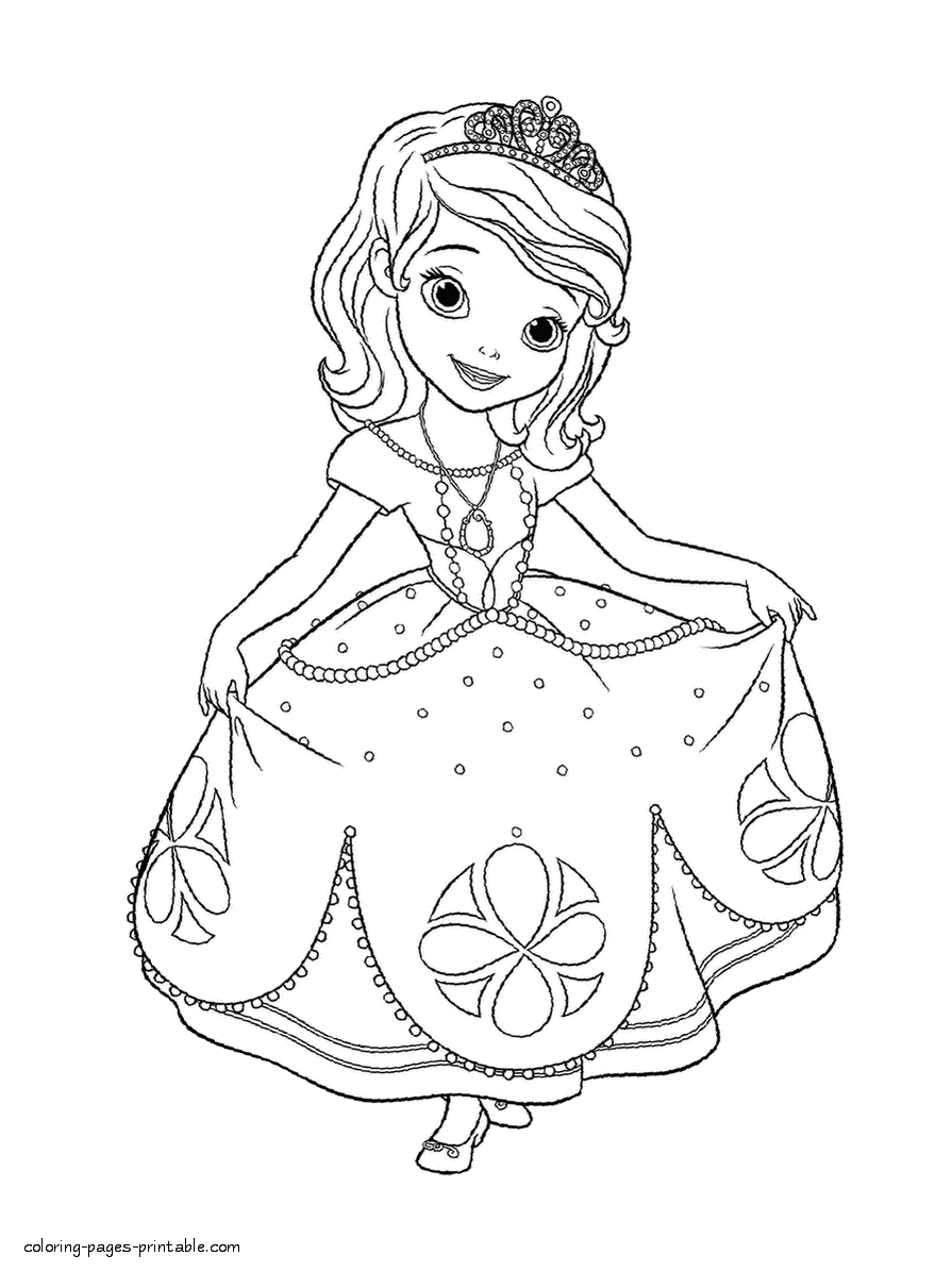Sofia Coloring Pages - Finest Coloring Pages sofia Princess with Princess sofia