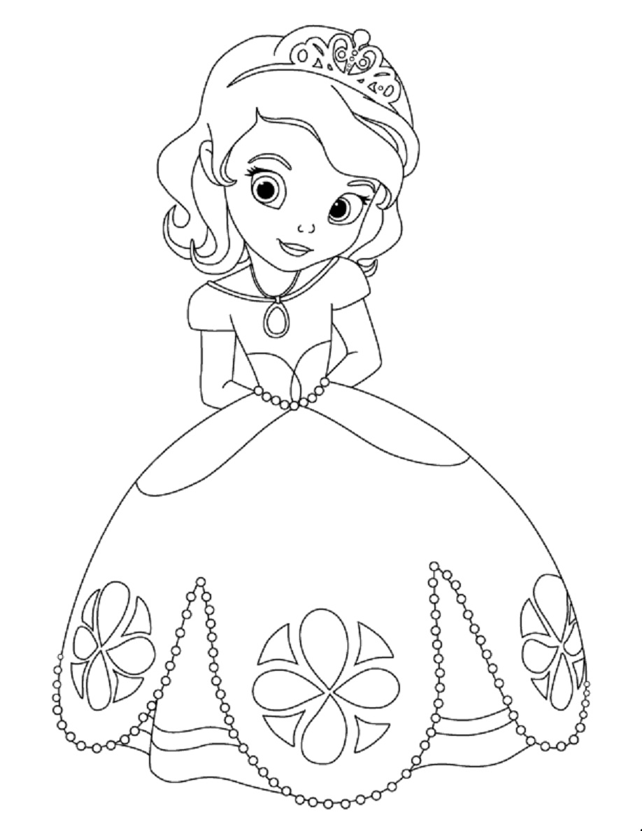 sofia coloring pages - sofia first coloring pages