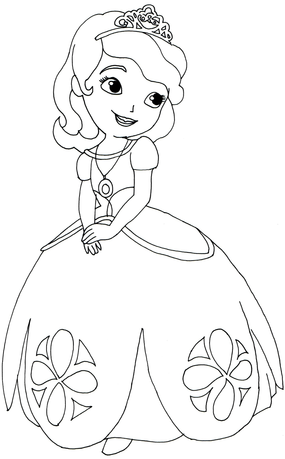 sofia coloring pages - sofia first coloring page