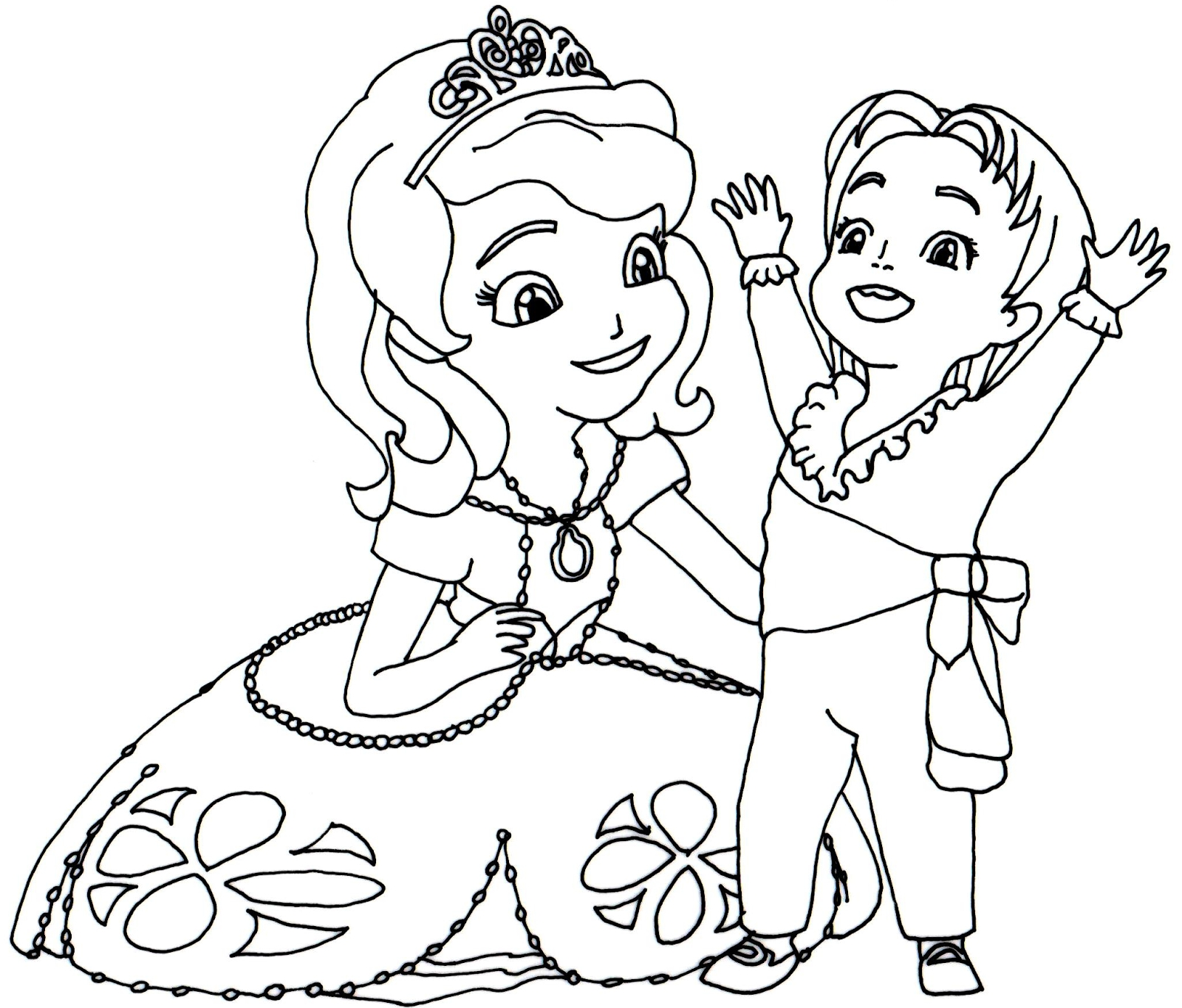 sofia coloring pages - sofia first coloring page with baby