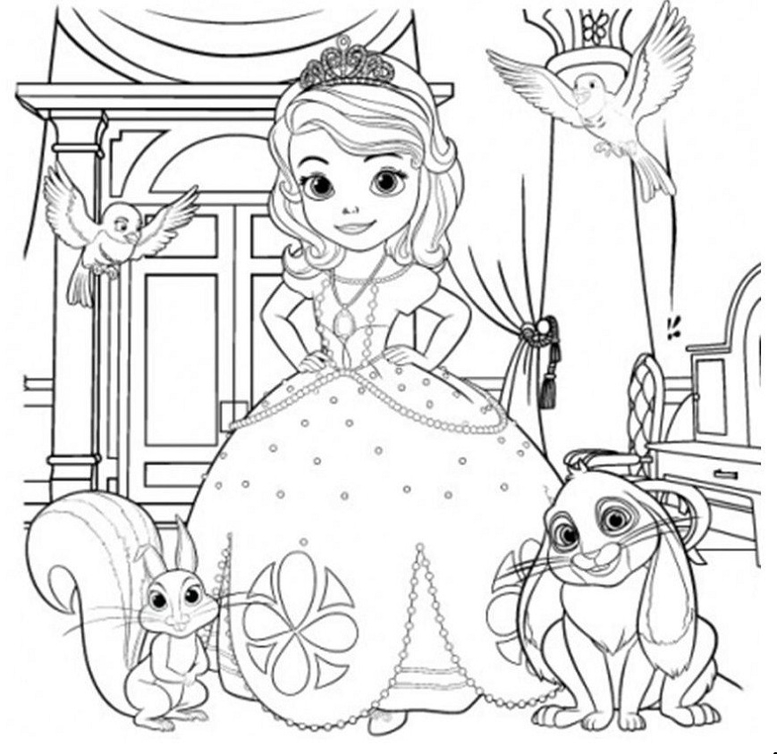 Sofia Coloring Pages - sofia the First Coloring Pages