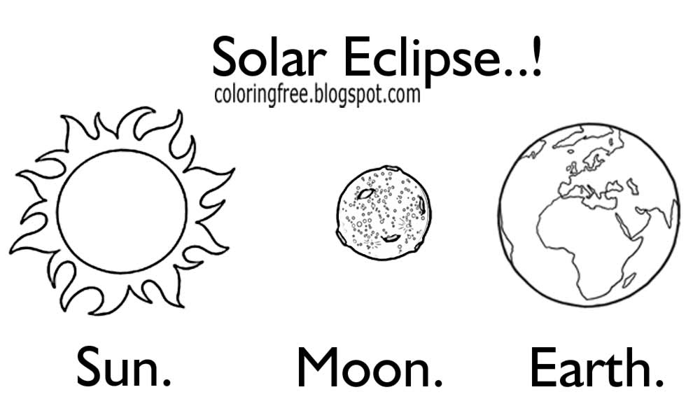 solar eclipse coloring page - free super printable moon coloring and