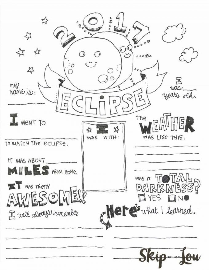 solar eclipse coloring page - free solar eclipse coloring page printable