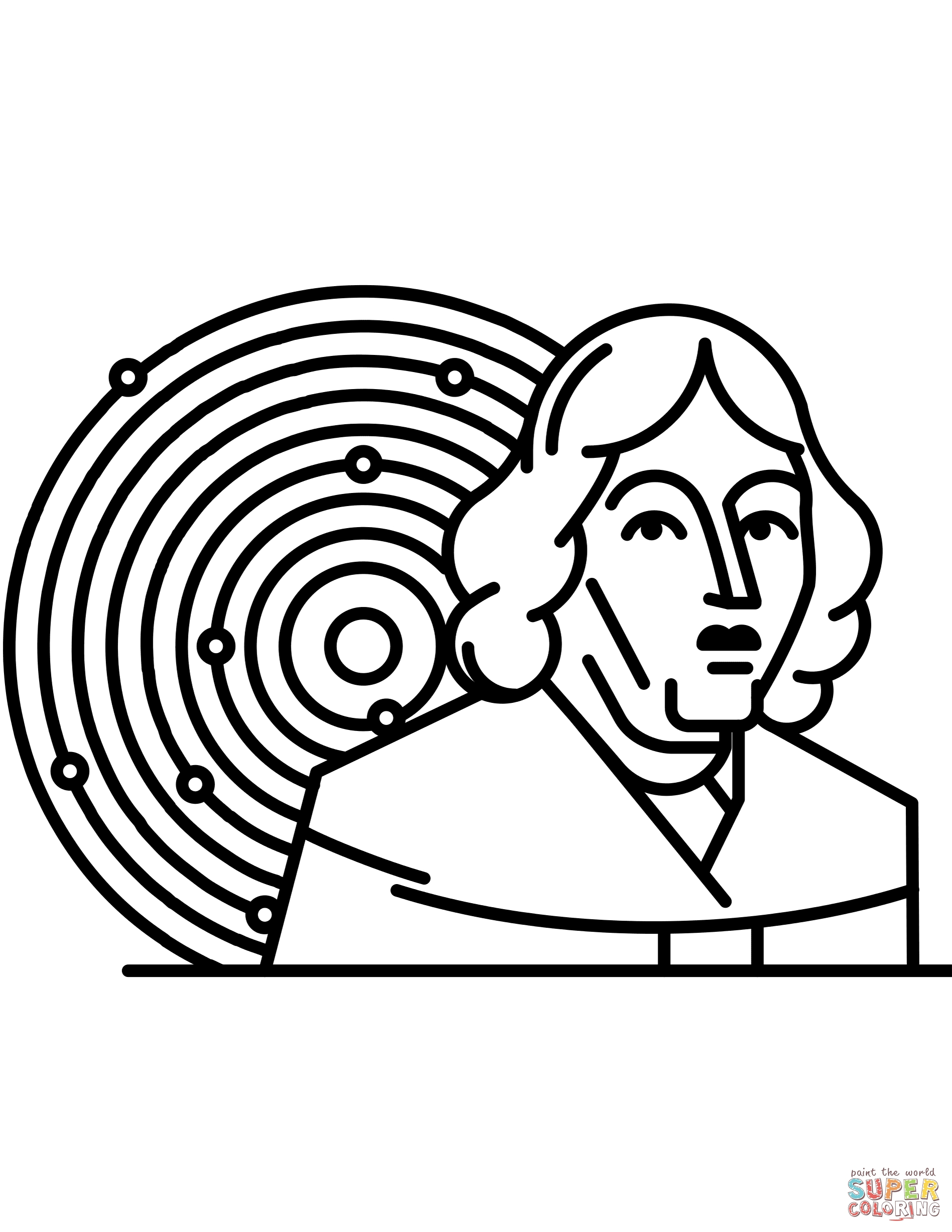 solar system coloring pages - copernicus and solar system