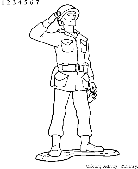 soldier coloring pages - ts