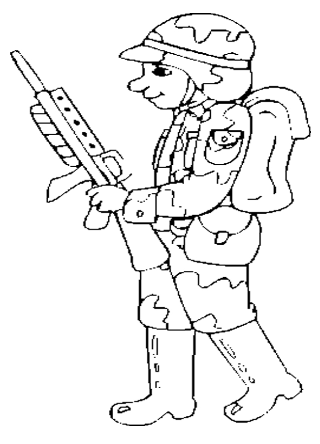 soldier coloring pages - sol r