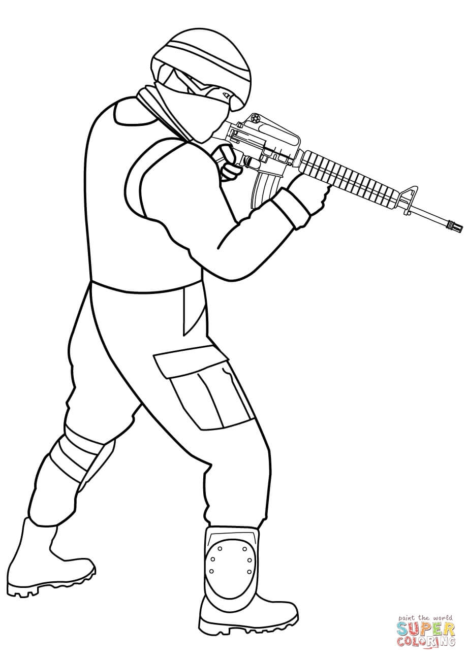 soldier coloring pages - special forces sol r