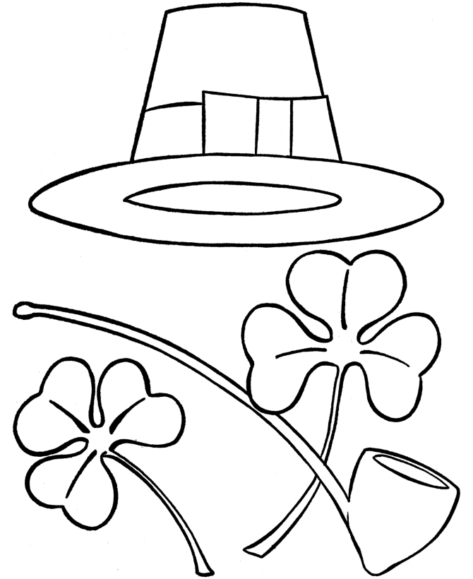 sombrero coloring page - pic of st patrick
