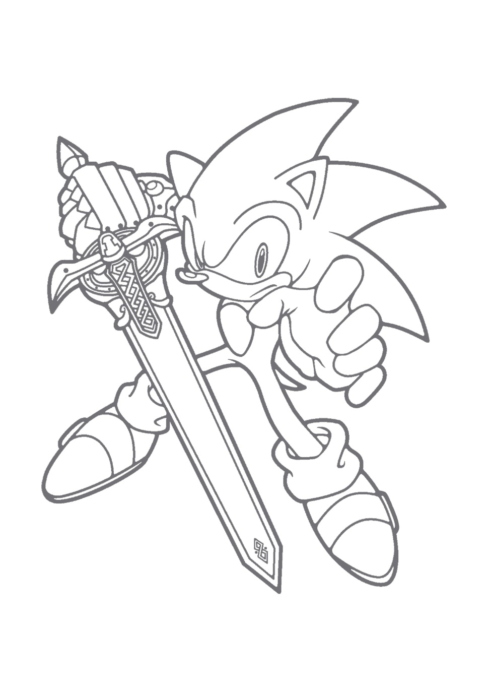 sonic coloring pages - sonic the hedgehog coloring pages