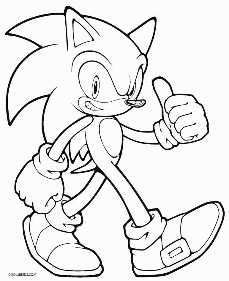 sonic coloring pages - sonic coloring pages