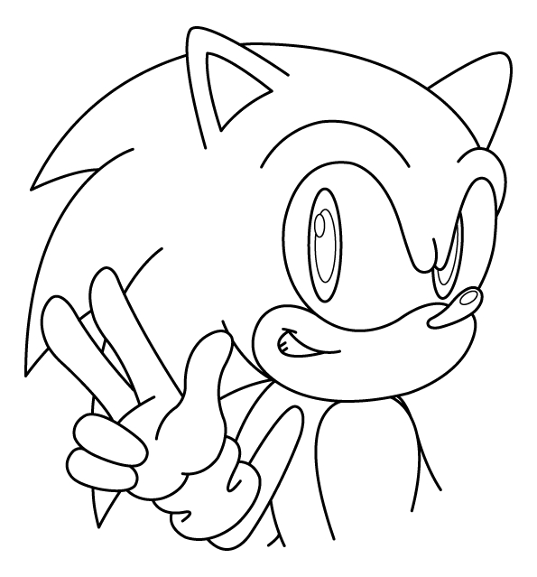 sonic coloring pages - sonic coloring pages 2