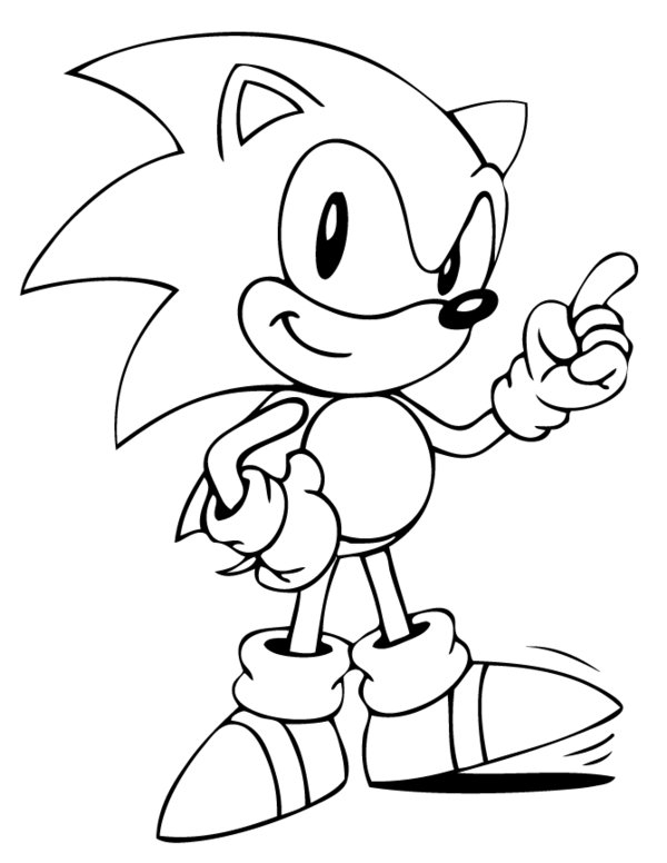 sonic the hedgehog coloring pages - 14