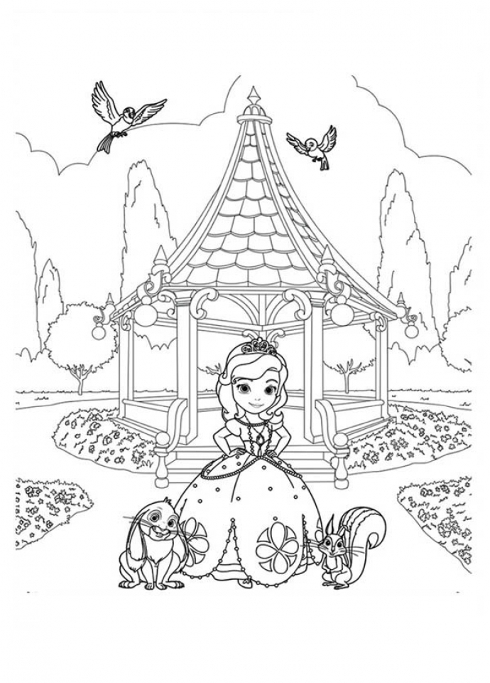 sophia coloring page - online sofia the first coloring pages