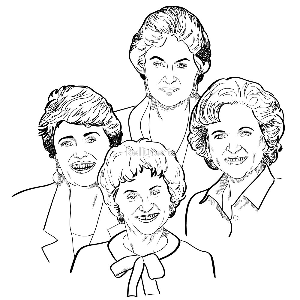 sophia coloring page - golden girls sketch